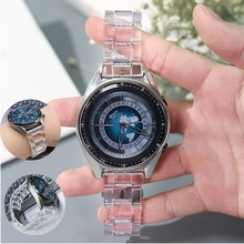 20mm 22mm Silicone bracelet de montre Transparent pour Samsung Galaxy montre 46mm 42mm engrenage S2 S3 Sport intelligent bracelet de montre remplacement