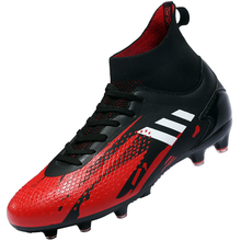 Soccer-Shoes Football-Boots Long-Spikes Chuteira Training Outdoor Spor High-Ankle Kids