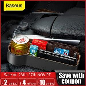 Image 1 - Baseus普遍的な革車オーガナイザーオートシートギャップフィラー収納ボックスポケットオーガナイザー財布タバコ電話ホルダー