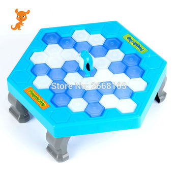 Save The Penguin Penguin Ice Breaking Great Family Funny Desktop Game Kid Toy Gifts Who Make The Penguin Fall Off Lose This Game фото