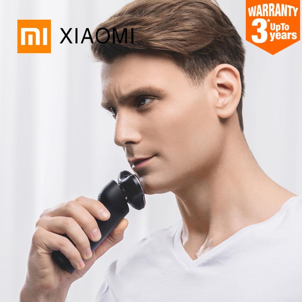 جديد شاومي MIJIA ماكينة حلاقة كهربائية S500 للرجال الذكية المحمولة الحلاقة 3 رئيس الحلاقة قابل للغسل الرئيسية الفرعية 3 شفرة أداة تهذيب اللحية trimer