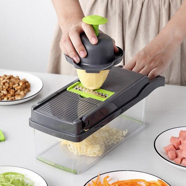 Cortador multifuncional, cortador multifuncional para cozinha, ralador, descascador e ralador, de vegetais, batata, cenoura, frutas, acessórios de cozinha 5
