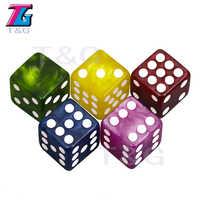 Dados de colores variados especiales para juego de mesa, D6, seis lados, 16mm, 5 uds.
