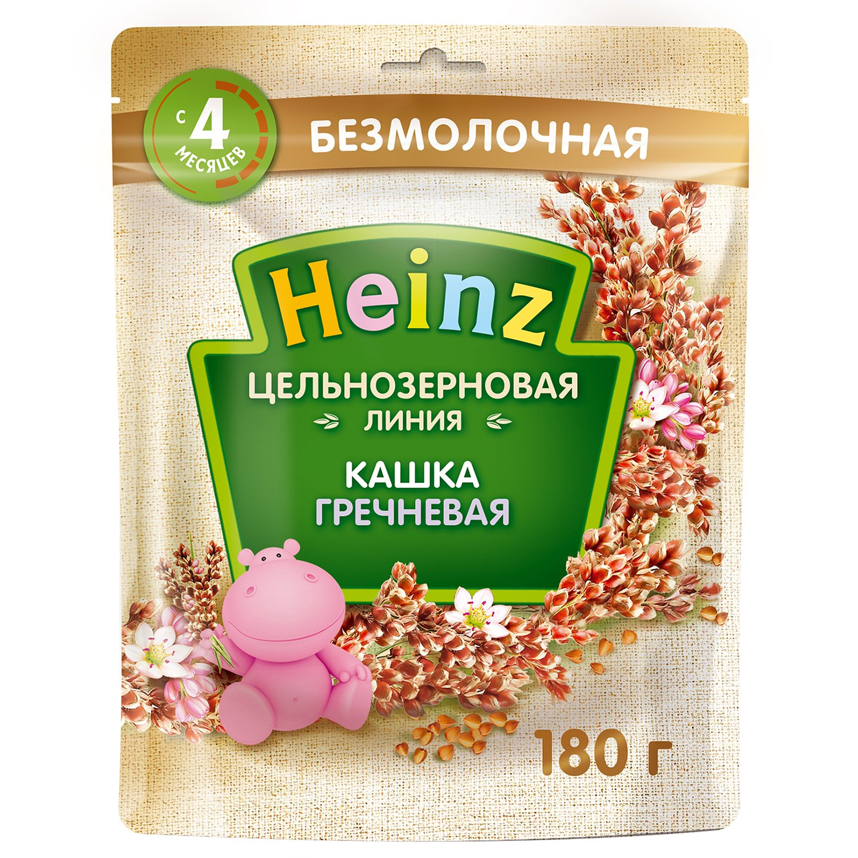 Каша безмолочная Heinz цельнозерновая гречневая 180 г с 4 месяцев