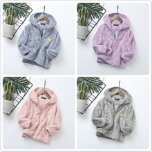 цена Children jacket clothes boys girls spring autumn hooded fleece warm coat infants fashion tops kids clothing онлайн в 2017 году