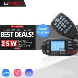 QYT KT-8900D 25W Quad Band coche móvil de Radio 4 de la banda 136-174 MHz/400-480 MHz UPGRADE KT8900 coche Walkie Talkie 10 KM BJ-218 BJ-318
