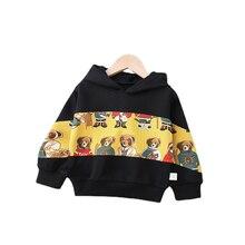 Модная весенне Осенняя детская хлопковая одежда куртка с капюшоном