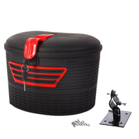 Electric Scooter Storage Carrying Basket with Lock for Xiaomi M365 Foldable Electric E Bike Scooter Handlebar Tape     -