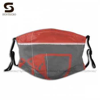 Pattern Protective Abstract Red One Face Mask Fun Adult Polyester Bike Facial Mouth Mask With Filter