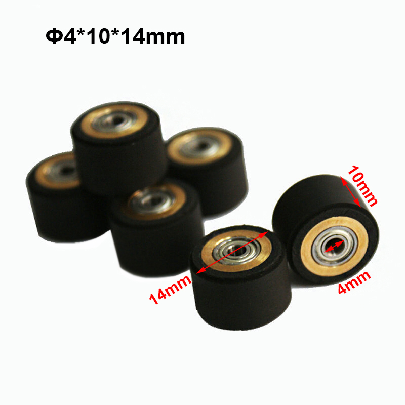 3pcs Graphtec CE5000  Vinyl Cutter Roland Mimaki Cutting Plotter Inkjet Printer Parts 4x11x16mm Press Paper Wheels Pinch Roller