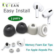 Defean Replacement Memory foam ear tips ear buds earpads eartips for Apple AirPods Pro earphone