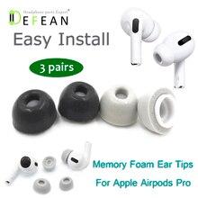 Defean almofada para fones de ouvido, almofada para fones de ouvido com espuma de memória para substituição de eartigos para airpods pro da apple