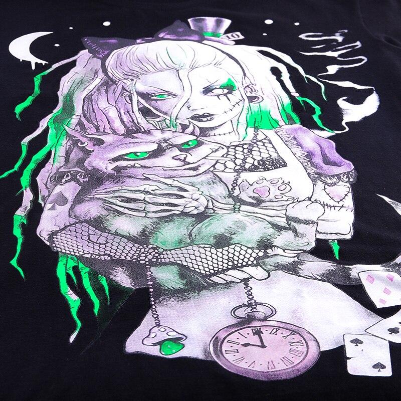 curta solto preto tshirt streetwear punk casual algodão t-shirts verão