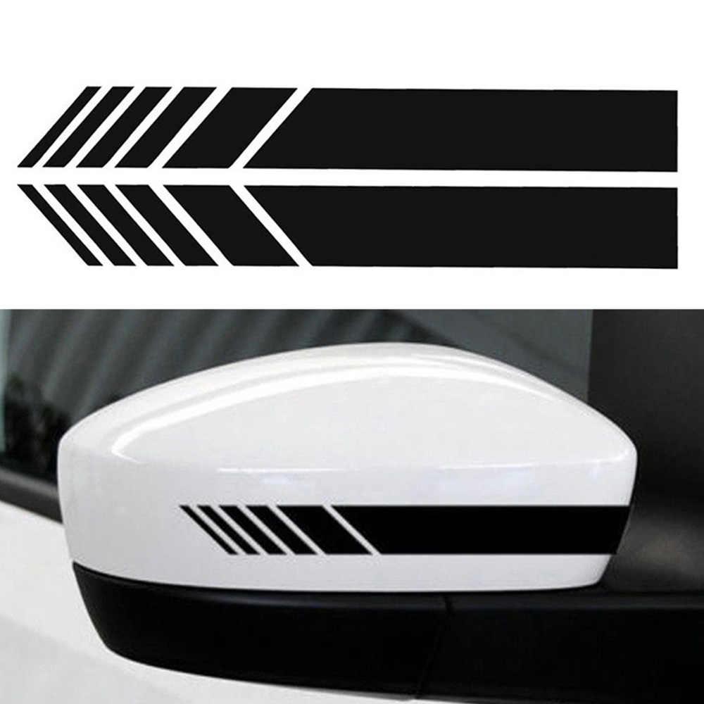 DJSona 2 Stuks Car Side Spiegel Vinyl Grafische Sticker Achteruitkijkspiegel Side Decal Streep DIY Car Body Decals