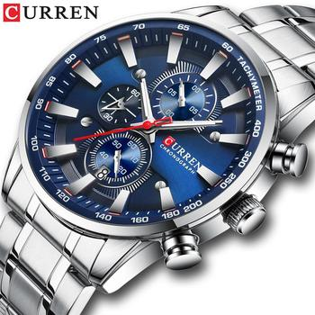 CURREN 8351 Chronograph Men Watch Sport Waterproof Stainless Steel Wristwatch With Box