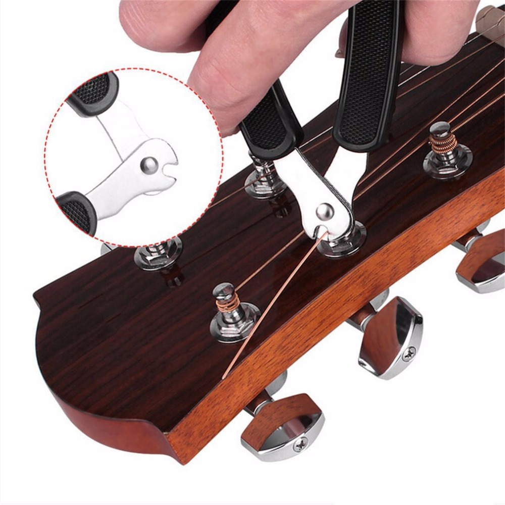 3 In 1 Guitar String Forceps Planet Waves String Winder And Cutter Integrated Bridge Pin Puller For Acoustic Guitar Drop Shippin