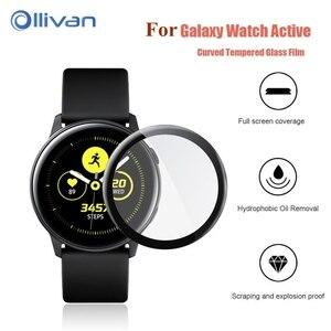 Para galaxy watch 6D Curvo Protetor para Samsung galaxy watch SM-R500 ativo ativo Full coverage Tela Película Protetora Macia