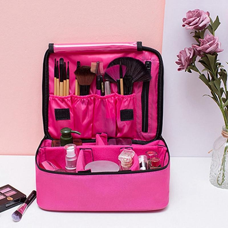 Professional Large Makeup Bag Cosmetic Storage Case Travel Handle Organizer Women Full Faction Make Up Bag Box Two Type Dropship
