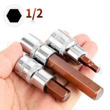 1Pc 1/2 'Drive Hex Bit Sockets H4 H5 H6 H7 H8 H9 H10 H12 H14 H19 Metric Schroevendraaier bit Sockets Handgereedschap Socket Joint Zeshoekige