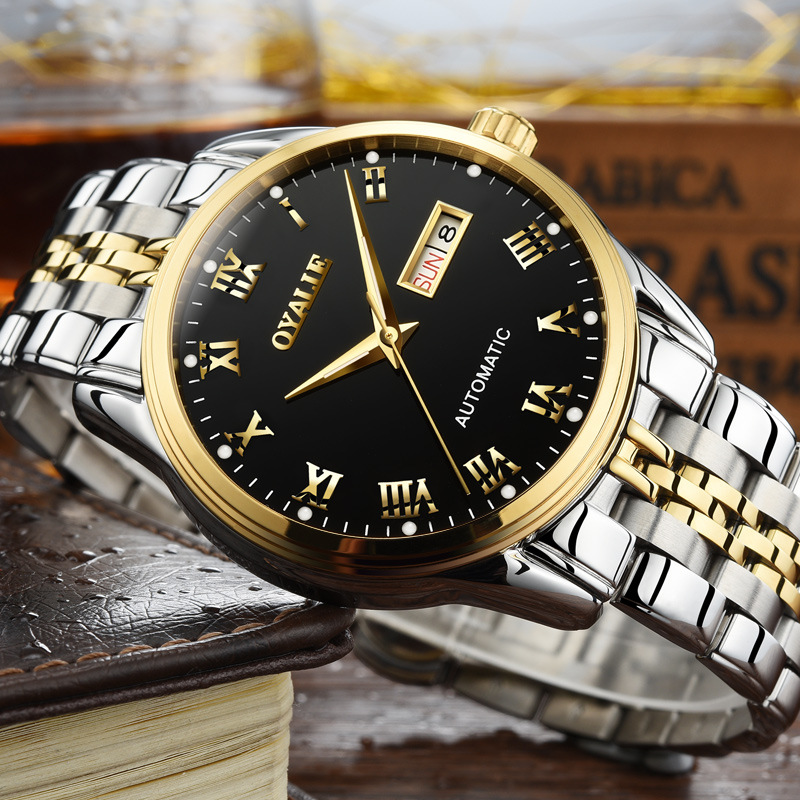 Watch manufacturers wholesale automatic mechanical watch night light waterproof men's watch men's support