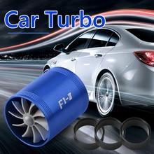 Óleo de combustível saver ventilador turbo kit mangueira acessórios do carro filtro de ar entrada de ar do carro dupla turbina reequipamento turbo gás