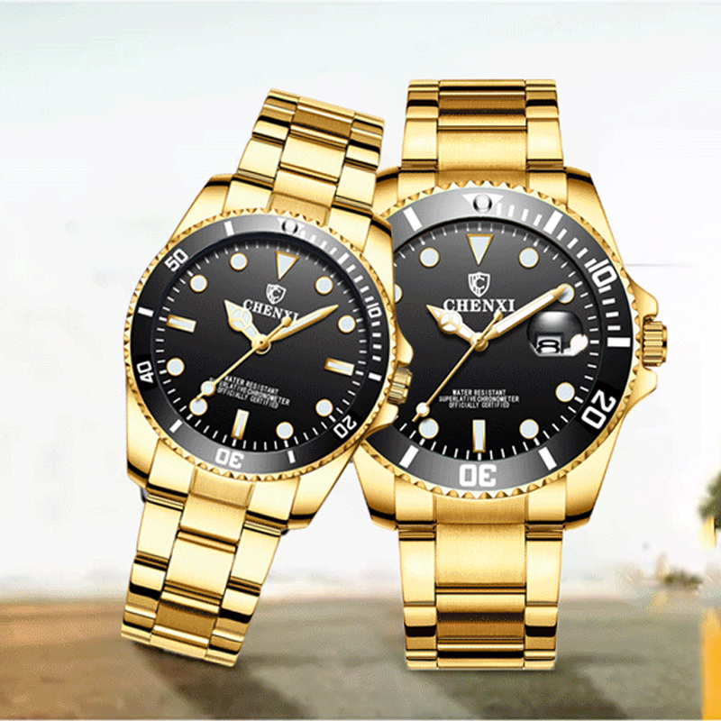 Fashion Couple Quartz Watches Men Woman Business WristWatches Waterproof Stainless Steel Wrist Watch Brand Chenxi Luxury Clock