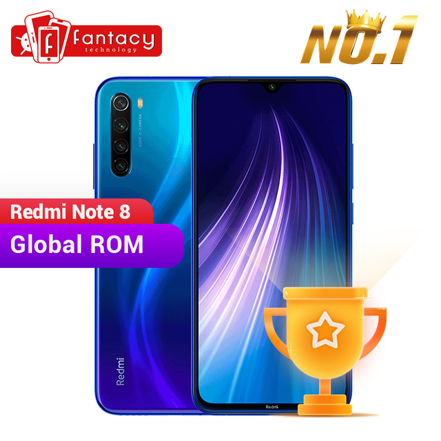 "In Stock Global ROM Xiaomi Redmi Note 8 4GB 64GB 48MP Quad Camera Smartphone Snapdragon 665 Octa Core 6.3"" FHD Screen 4000mAh"