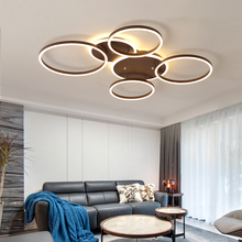 Brown Modern led chandeliers ceiling For living room lights bedroom light Nordic Aluminum modern chandelier lighting