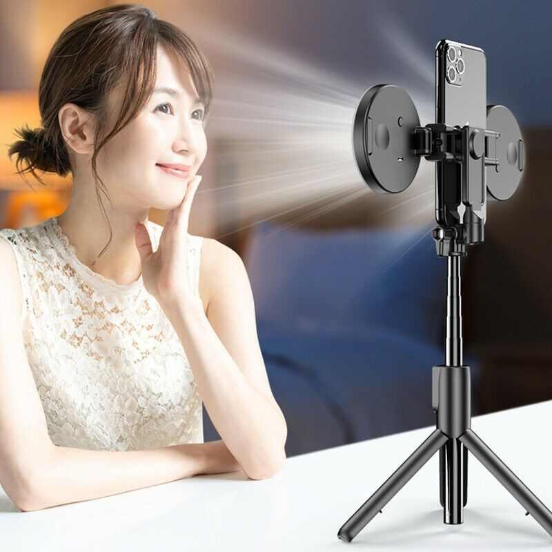 무선 블루투스 Selfie 스틱 플래시 링 라이트 확장 가능한 핸드 헬드 Monopod 삼각대 아이폰 화웨이 삼성 다기능