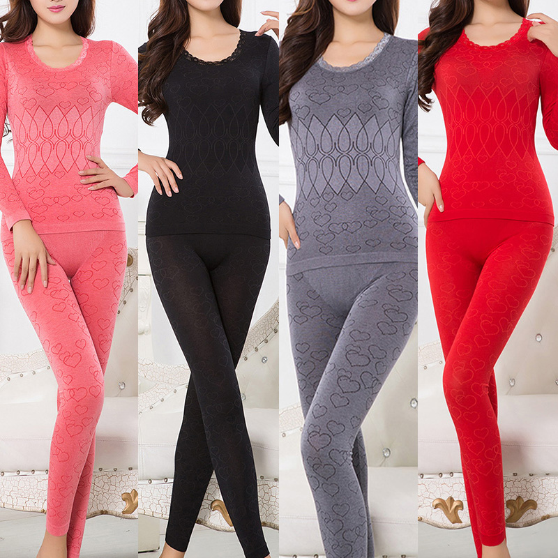 Women Thermal Underwear Set For Winter Long Johns Second Skin Winter Female Thermal Clothing Cotton Thermal Shirt Women