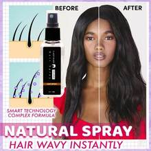 30ml Hair Styling Hold Spray Water for Quick Styling Curly Working Hair Building Fibers Hairdresser Water Hair Fixing Spray