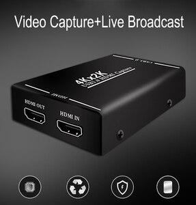 Image 2 - 4K HDMI USB 3,0 видеокарта для захвата видео, видеорегистратор для OBS vMix Wirecast Potplayer VLC, кодировщик, проигрыватель QuickTime, прямая трансляция