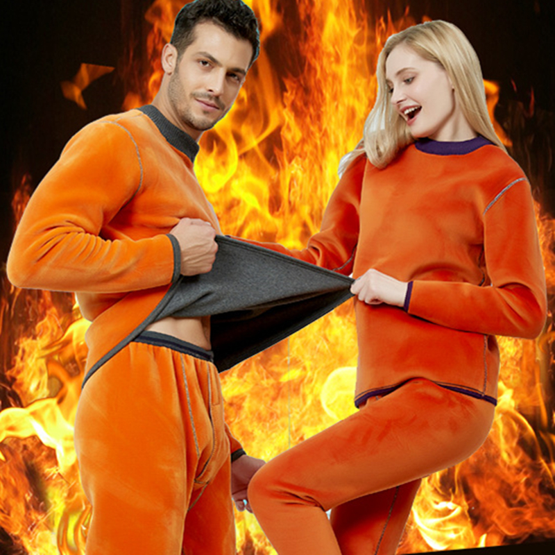 Winter Long Sleeve Thick Men Thermal Underwear Sets Keep Warm For Russian Canada And European Women