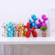 Paskalya reçine kristal hayvan heykelcik minyatür balon köpek şekli sanat heykel masası aksesuarları heykeli ev dekorasyonu hediye