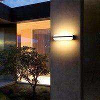 Luz exterior exterior 85-265v ip65 do jardim da luz 14w 24w da parede alumínio