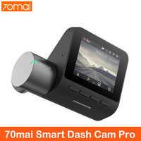 Xiaomi 70mai cámara de salpicadero Pro 1944P GPS 70mai Cam coche de la Pro voz en Inglés Control ADAS 70 mai Pro Dash coche cámara de visión nocturna Wifi