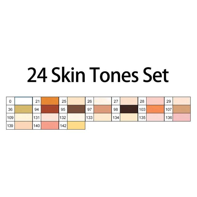 24 shin tone colors