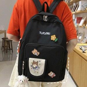 EnoPella Fashion Nylon Women Backpack Ladies Cute Female School BagBook Girl Trendy Kawaii For College Student Bag Mochila