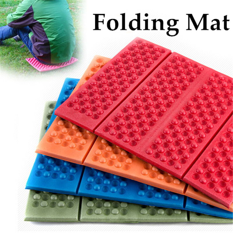 27x44cm Portable Soft Waterproof Dual Camping Hiking Picnic Cushion Seat Pad Outdoor Folding Camping Moistureproof Mattress Pad