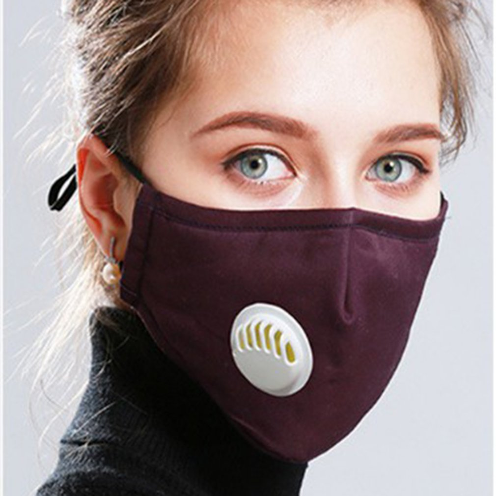 Cotton PM2.5 Anti Haze Mask Breath Valve Anti-dust Mouth Mask Activated Carbon Filter Respirator Mouth-muffle Mask Face