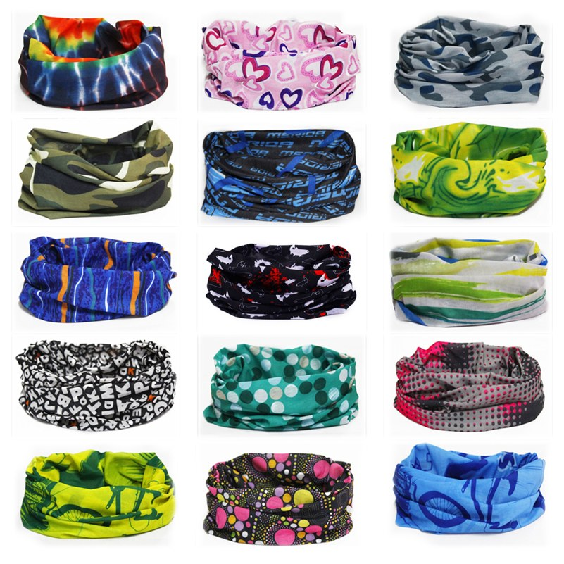 28 Style Camouflage Polyester Scarves Half Face Mask Outdoor Sport Cycling Bandanas Seamless Camping Hiking Headwear Magic Scarf