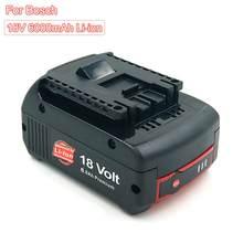 6000mAh 18V akumulator litowo-jonowy wymienna bateria dla Bosch 18V BAT622 BAT609 BAT618 BAT619 BAT62 wiertarka akumulatorowa wskaźnik LED