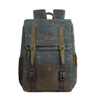 Coress Multi Purpose Batik Canvas Leather Camera Backpack Large DSLR Bag Outdoor Travel Photo Bag For Nikon Canon Sony Notebook