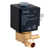 JYZ 5 Jiayin 2/2 Way AC 230V 50Hz G1/8 Normally Closed Electromagnetic Solenoid Valve for Water Gas Stream