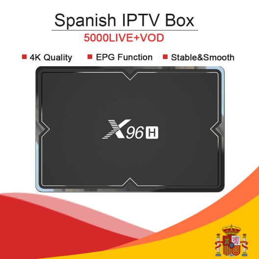 X96H Android 9.0/H603/double WIFI/6 K Smart TV Box & KING OTT iptv abonnement nordique espagne France arabe turquie Portugal adulte iptv