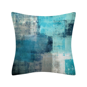 Image 4 - Colorful Painting Geometry Pattern Cushions Pillowcase Polyester Cushion Cover Throw Pillow Sofa Decoration Pillowcover 41029
