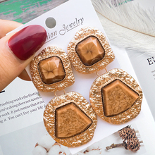Luxury Marble  Big Round Earrings For Women Fashion Drop 2019 New High quality Jewelry Accessories