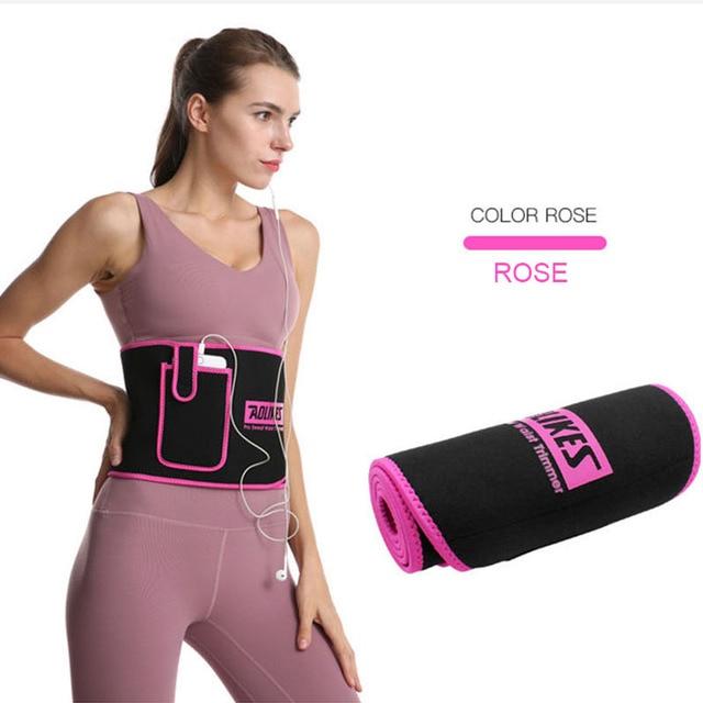 Women Slim Weight Loss Sweat Band Sports Waist Trimmer Belt Lumbar Brace Support Gym Weightlifting Training Fitness Accessories 3