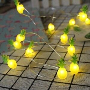 20 LED 2 м светильник-гирлянда Фламинго ананас звезды арбуз форма Светодиодная лампа для Гавайских праздников, свадеб, дней рождения, украшени...