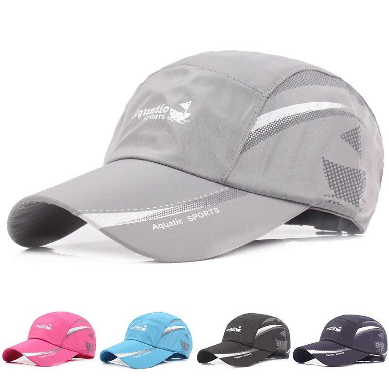 Sombrero de béisbol de secado rápido para hombre, gorra de béisbol con estampado de letras, protector solar, gorra de pesca ajustable, gorra de algodón para entrenamiento, gorra de lengua de pato, 2020